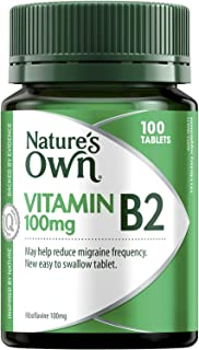 Nature's Own Vitamin B2 100mg - Supports Energy Production - Acts as Coenzyme - Assists Metabolism, 100 Tablets