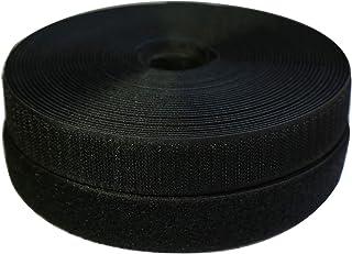 """Vkey 25mm(1"""") Width 10 Meters Sew-On Hook Loop Fastener Tape Nylon Strips Fabric Non-Adhesive Back Black"""