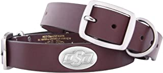 Zeppelin Products, Inc. - Pets Zep-Pro Brown Leather Concho Pet Collar, Oklahoma State Cowboys