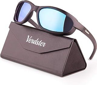 Verdster Airdam Polarisierte Motorrad Sonnenbrillen   ideal zum Fahren   UV geschützter, verbesserter, komfortabler, faltbarer Rahmen