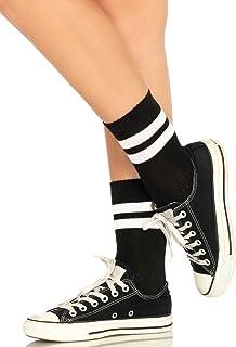 Leg Avenue Par de calcetines para mujer con rayas negro blanco talla única
