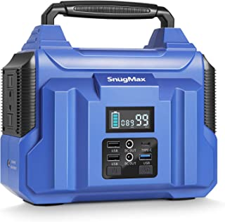 SNUGMAX ポータブル電源 バッテリー 人気 大容量 60000mAh/222Wh AC(300W 瞬間最大400W)/DC/USB出力 純正弦波 家庭用 蓄電池 非常用電源 急速充電 PD45W QC3.0 車中泊 キャンプ 釣り アウト...