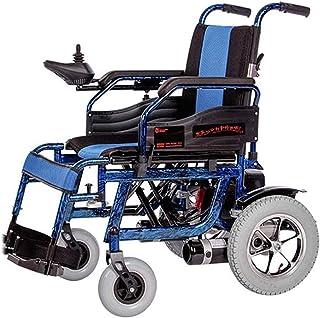 Sillas de ruedas eléctricas para adultos Sillas de ruedas eléctricas for Adultos aprobado por la FDA transporte respetuoso con el peso ligero plegable Silla de ruedas eléctrica for adultos, Azul, 20Ah