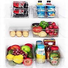 JinaMart Refrigerator Organizer Bins   Fridge Storage Bins   Organizer Bins For Freezer..