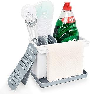 YOHOM Brush Sponge Holder Kitchen Sink Caddy Organizer Dishcloth Rag Hanger Scrubber Soap Storage Holder Kitchen Sinkware ...