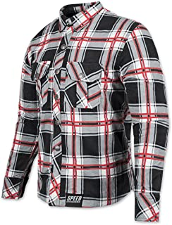 Speed and Strength Men's Rust and Redemption Armored Moto Shirts,Medium,Black/Red
