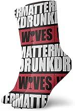 Drunk Wives Matter Socks,Dress Socks Funny Socks Crazy Socks Casual Crew Socks
