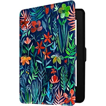 Fintie Slimshell Case for Kindle Paperwhite - Fits All Paperwhite Generations Prior to 2018 (Not Fit All-New Paperwhite 10th Gen), Jungle Night