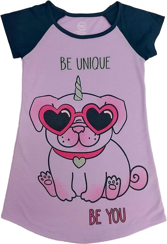 Dog Unicorn Girls Nightgown Pajamas - Be Unique (Purple, X-Large 14/16)