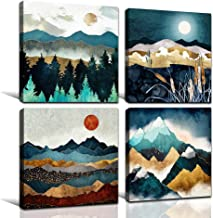 Landscape Painting Landscape Picture mountains and Lake 50x40 Art Print on MDF Mountains