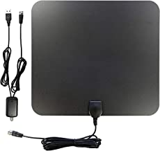 AntennaMastsRus - 70+ Mile Range - Indoor VHF - UHF HD Digital TV Antenna with +25 dB Amplified Booster - 4K - 1080P Capable - 13 Foot Premium Coax Cable