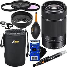 Sony E 55-210mm f/4.5-6.3 OSS E-Mount Telephoto Zoom Lens (Black) for a3000, a3500, a5000, a5100, a6000, a6300, a6500, NEX-3/5/6/7, NEXC3/F3 + 10pc Accessory Kit w/HeroFiber - International Version