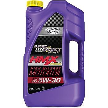 ROYAL PURPLE HMX SAE 5W-30 High-Mileage Synthetic Motor Oil 5 Quart
