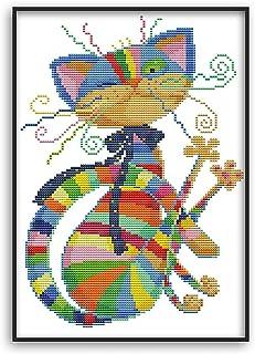 MWOOT DIY Kit Broderie Point De Croix,11CT Cross Stitch Embroidery Starter Kit,Kit de Couture à la Main pour Adultes(32x42...