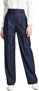 Theory womens HIGH WAISTED WIDE LEG PLEAT TROUSER Dress Pants