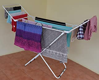 Peng Essentials Steel Chrona Extra Wide Large Cloth Drying Rack Stand (Light)