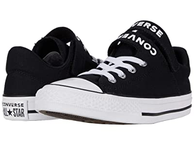 Converse Kids Chuck Taylor(r) All Star(r) Double Strap (Little Kid/Big Kid) (Black/Black/White) Kid