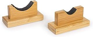 Cypress Sunrise Baseball Bat Display Case Desk Table Mantel Mount Horizontal Rack Brackets Hanger Holder I Bamboo Finish I Protective Felt I Hidden Hardware Included I Easy Installation