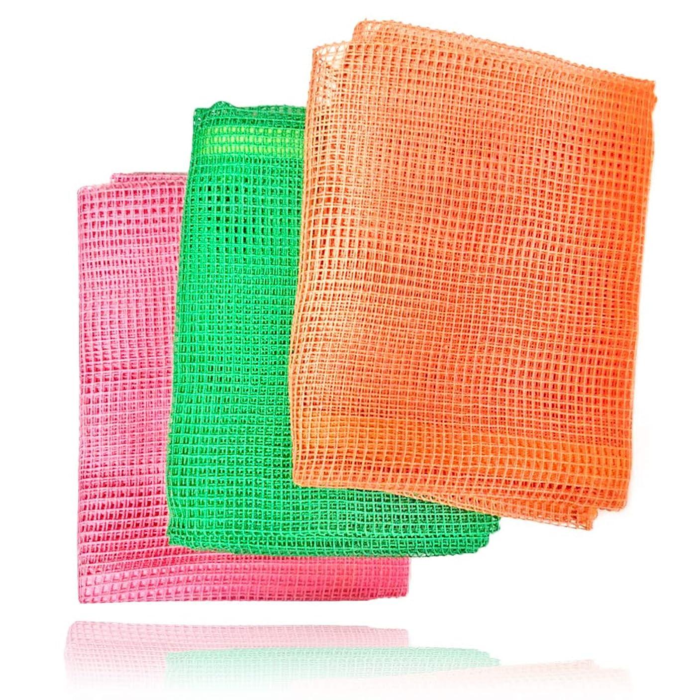 直立不透明な好み美肌健康浴用タオル3本セット(旧ビオネット)
