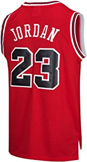 935801d7b99 RAAVIN Legend Mens #23 Basketball Jersey Retro Athletics Jersey Red White  Black/Strip S