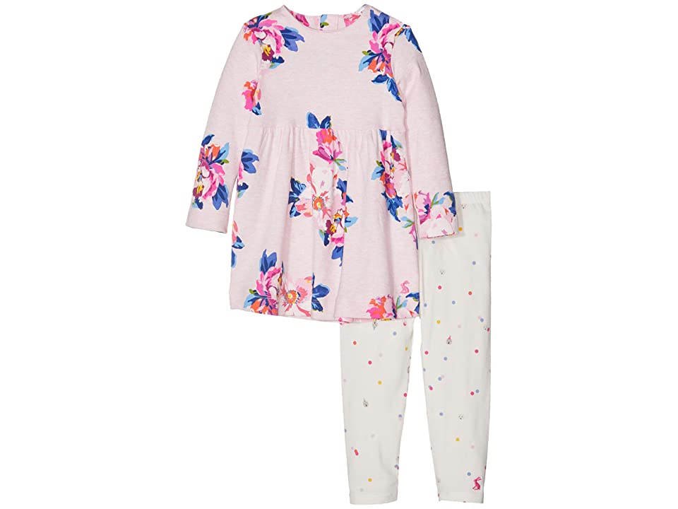 Joules Kids Dress and Leggings Set (Infant) (Pink Marl Granny Floral) Girl