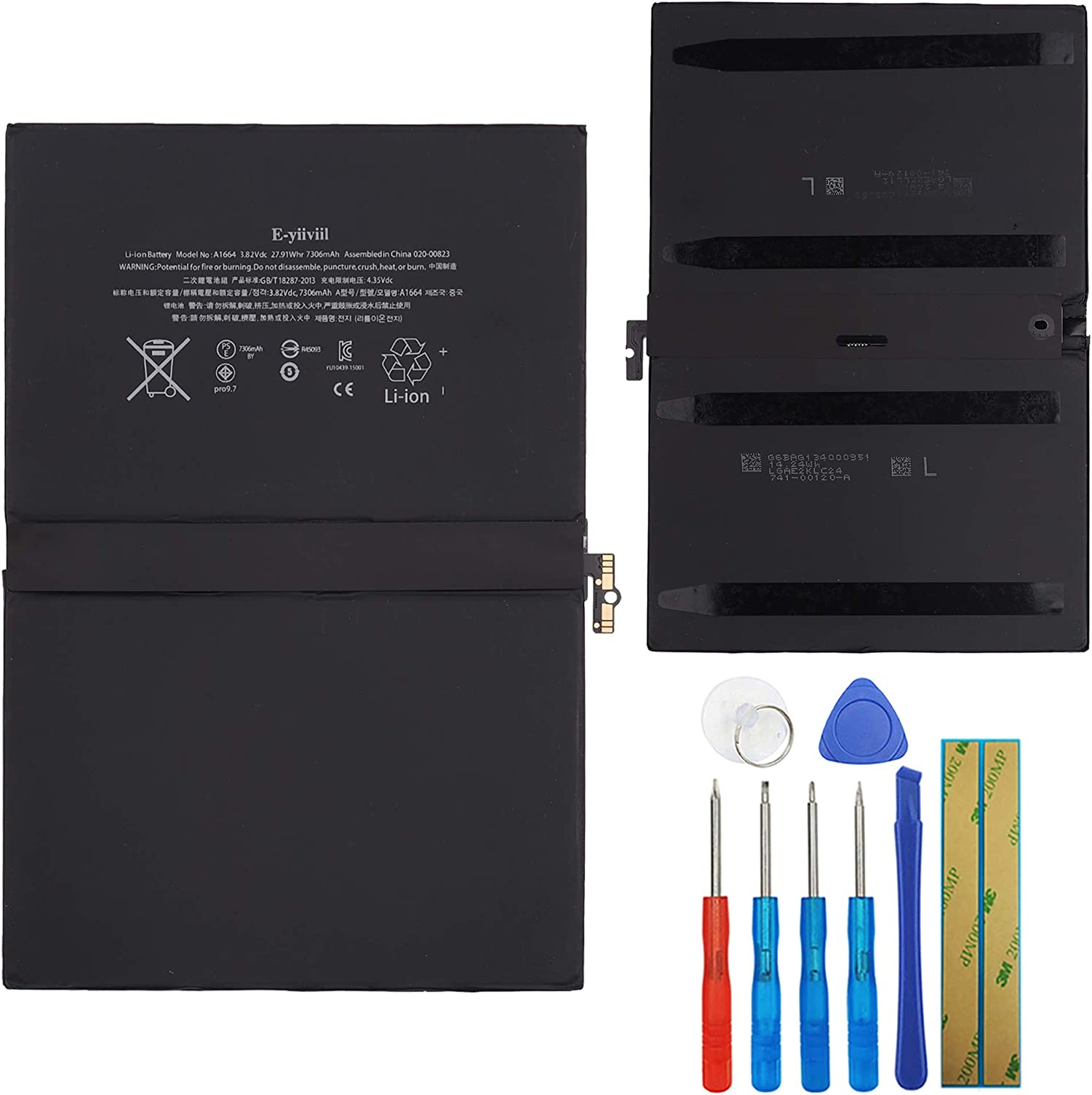 New Replacement online shop Battery A1664 Compatible with Apple Pro 9.7 ipad Lowest price challenge