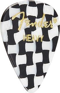 Fender ピック 351 SHAPE GRAPHIC PICKS HEAVY, CHECKER(12PACK)