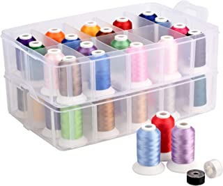 Polyester Embroidery Machine Thread 40 Colors (40C with Storage Box)