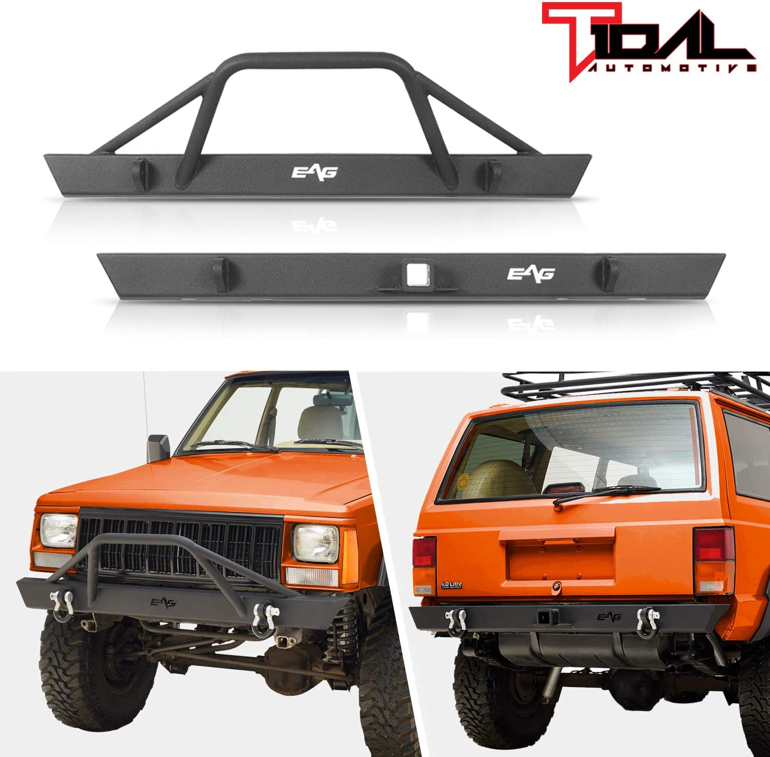 Tidal Off-road Front Bumper and 1984-2001 日本メーカー新品 Ch 期間限定 Rear Fit for