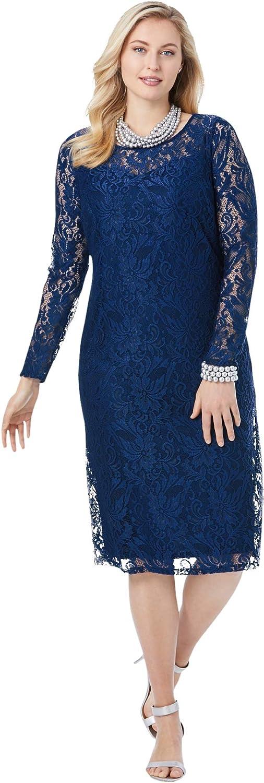 Jessica London New arrival Women's Plus Shift Size Virginia Beach Mall Lace Dress