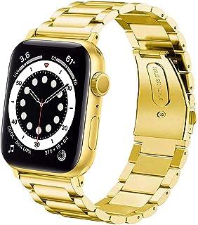 DEALELE Band Compatibel met iWatch 38mm 40mm 42mm 44mm, Roestvrij Staal Metaal Armband Vervanging voor Apple Watch Series ...