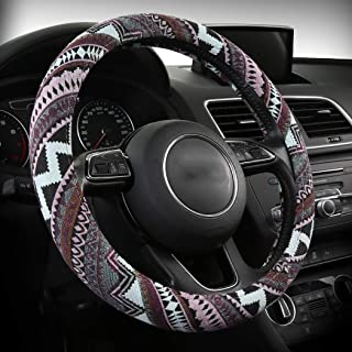 AUTOJING Bohemian Styling Steering Covers-Multi Colors Steering Wheel Covers,Universal Fits(FXP-BOXI05)