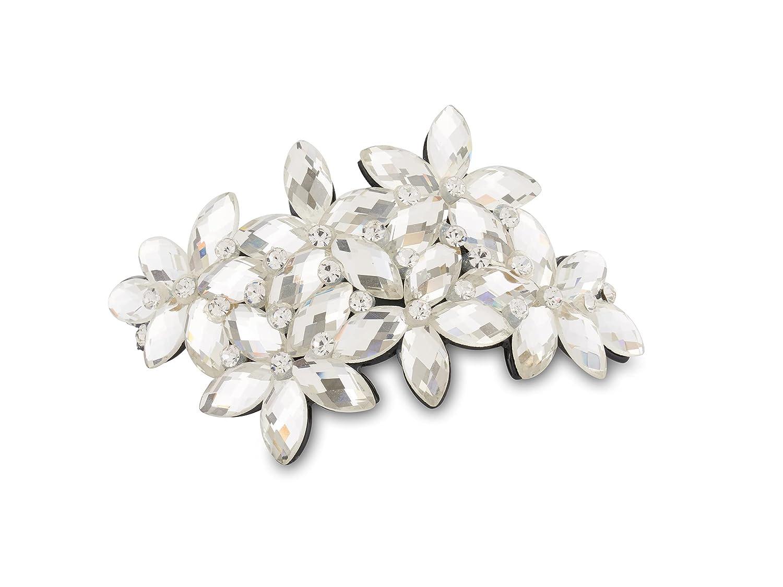 Allure Women's Glass Stone Phoenix Mall Barrette Non-Slip Clip Fees free Hair