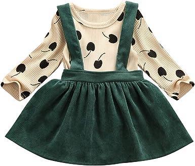 Conjunto de falda de tirantes de cereza acanalada camisa de ...
