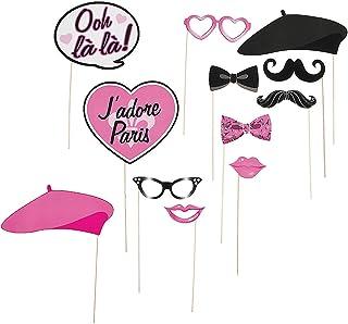 Fun Express - Paris Photo Stick Props for Birthday - Apparel Accessories - Costume Accessories - Costume Props - Birthday ...