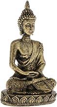 #N/A Small Thai Sitting Buddha Statue Figurine Sandstone Buddhism Car Decor - Bronze, Small