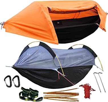WintMing Camping Hammock with Mosquito Net and Rainfly Cover