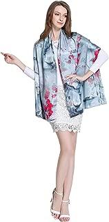 Spring Air Women's 100% Charmeuse Silk Long Double Layer Fashion Scarf&Shawl