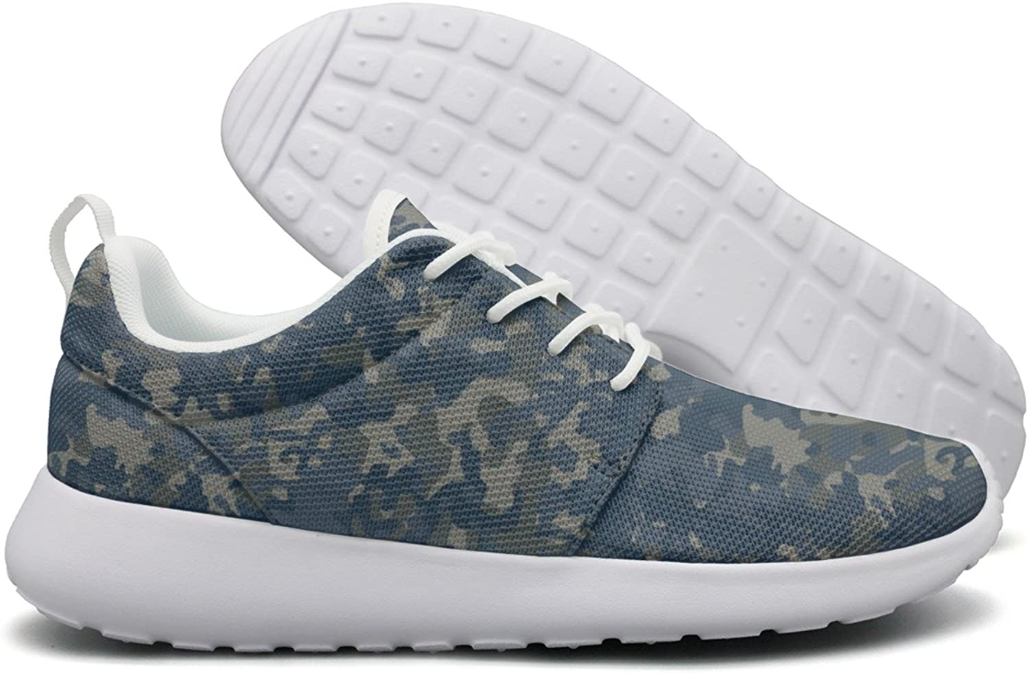 Hoohle Sports bluee Camouflage Womens Roshe One Flex Mesh Casual shoes for Men