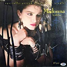 Madonna Autographed Signed Borderline Single Album Certified Authentic - PSA/DNA Certified