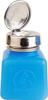 Menda 35282 One Touch Stainless Steel Liquid Dispenser Pump, ESD Safe durAstatic Square Bottle, 4 oz, High Density Polyeth...