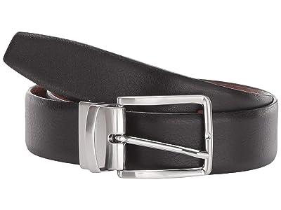 Torino Leather Co. 35 mm Italian Glazed Soft Reversible (Black/Cognac) Men