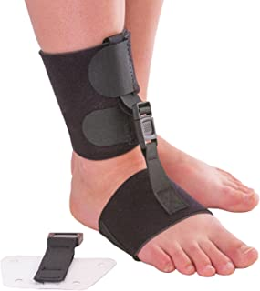Soft AFO Foot Drop Brace | Ankle Foot Orthosis with Dorsiflexion Assist Strap Keeps Foot Up for Improved Walking Gait - Wear Barefoot or Inside Shoe (S/M - Fits Right or Left Foot)