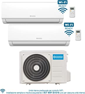 Olimpia Splendid OS-C/SEAIH14EIB Climatizador Fijo Dual Split Aryal S1 E Inverter, 10.000 + 12.000 BTU/h (10+12), Wi-Fi Ready