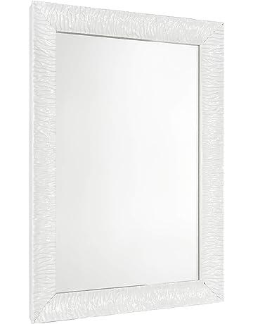 Perfetto per bagno Specchio artistico per parete decorativa camera da letto Appende orizzontale o verticale LDFZ Specchio da bagno senza cornice Specchio da parete bisellato vanit/à
