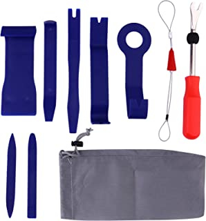 Garneck Kit de ferramentas de remoção de automóveis com 9 peças, kit de instalação de remoção de rádio, sem arranhões, par...