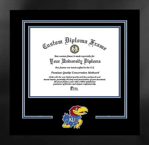 Value Savings $59 Campus Images NCAA Unisex Spirit Diploma Manhattan Black Frame with Bonus Lithograph