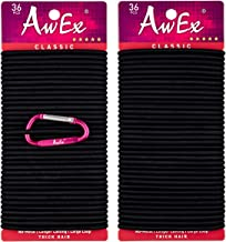 AwEx LARGE Hair Ties for Thick Hair,4 mm(0.16 Inch) Thick,170 mm(6.7 inches) Long,No..