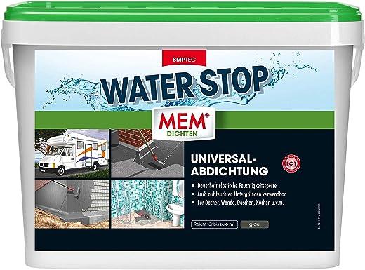 MEM 30822565 Dichtmasse – Universalabdichtung und Feuchtigkeitssperre für z.B. Dächer, Wände, Bad und Dusche – Rissüberbrückung – Paste Water Stop,…