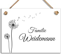 Mooi deurbordje met naam om op te hangen | gepersonaliseerd koordbord voor de woning, huisdeur of de tuin in verschillende...
